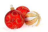 Christmas balls isolated on the white — Stock Photo
