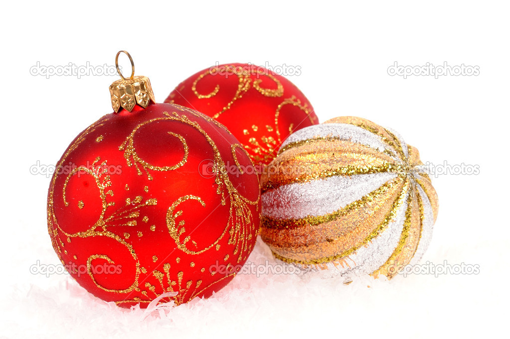 Christmas balls isolated on the white  Stock Photo #8150981