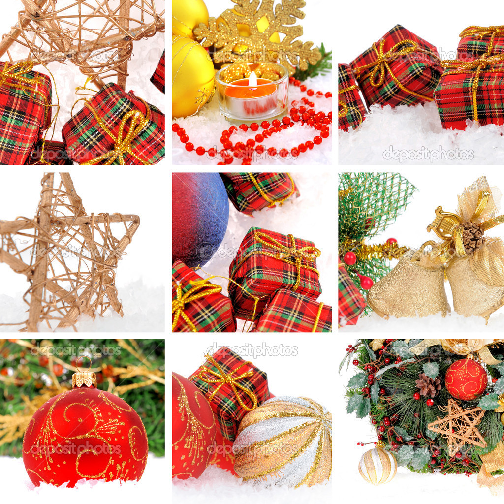 Christmas collage — Stock Photo #8170344