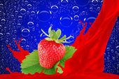Strawberry juice — Stockfoto