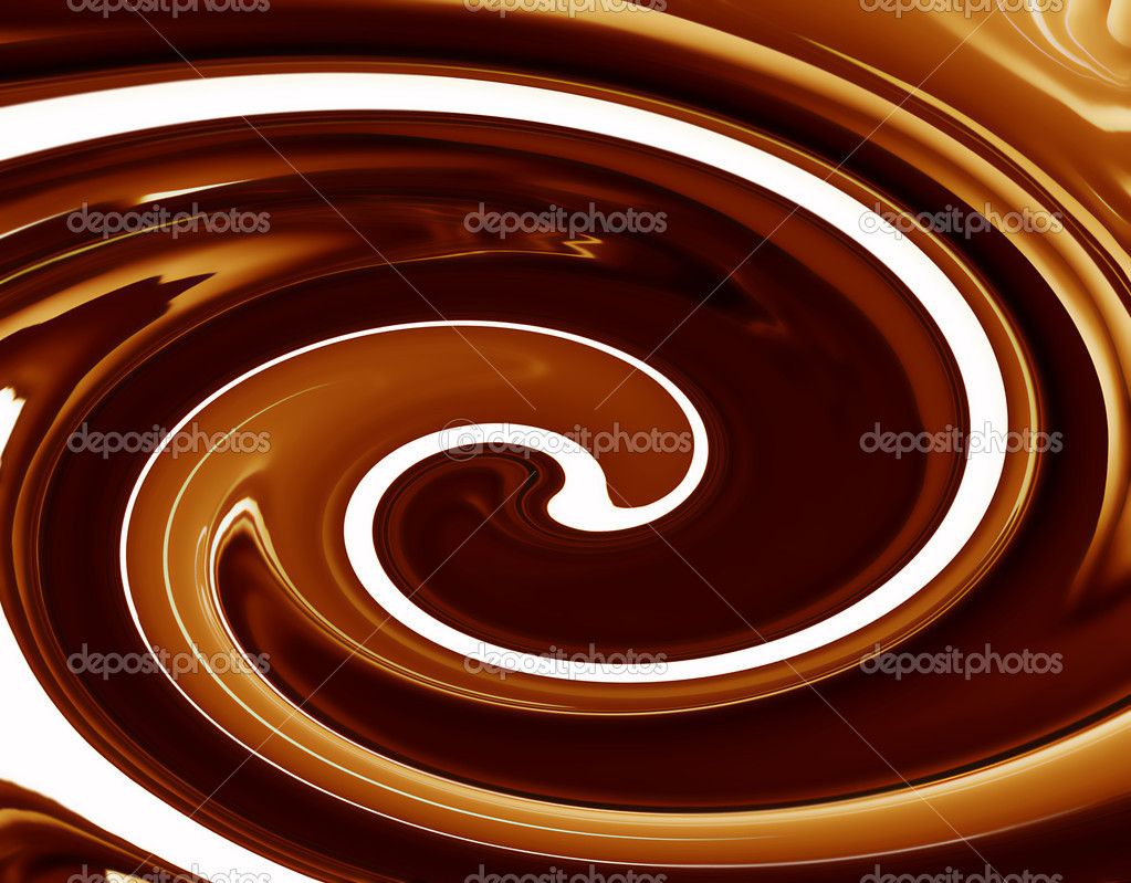 Abstract background of chocolate colored, smoothly textured folds — Stock Photo #9467263