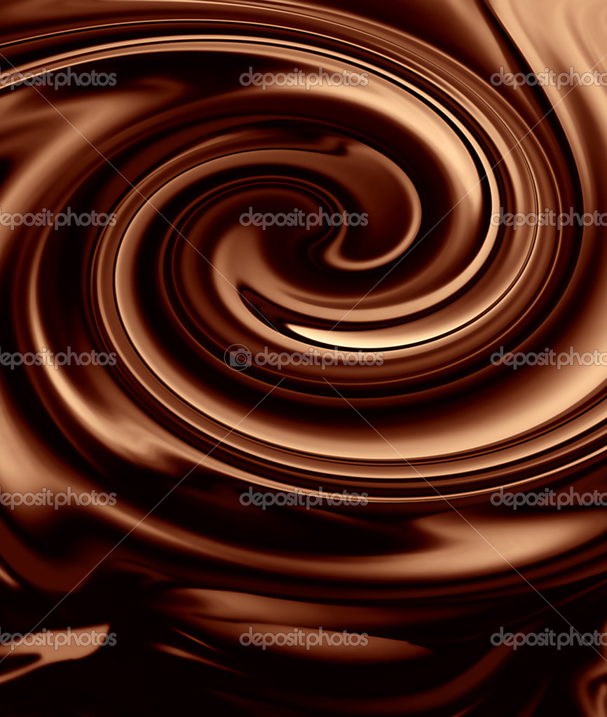 Abstract background of chocolate colored, smoothly textured folds  Stock Photo #9467281