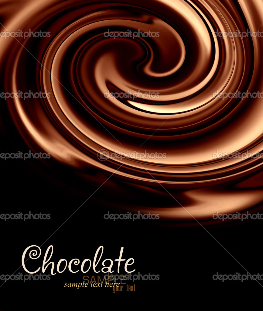 Abstract background of chocolate colored, smoothly textured folds — Stock Photo #9467301