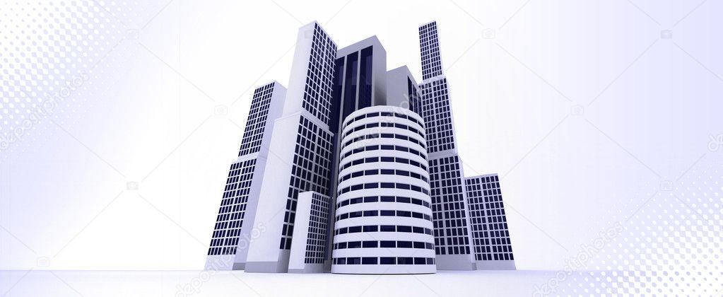 3d 建筑物 - 图库图片