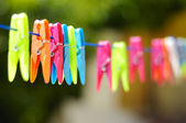Multicolored clothes pin — Stock Photo