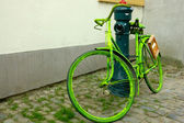 Green bicycle — Stock Photo