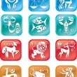 Horoscope zodiac signs — Stock Vector #9066783