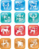 Horoscope zodiac signs — Stock Vector