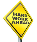Hard work ahead — Stock Photo