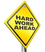 Hard werk voor de boeg — Stockfoto