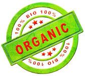 Organic 100% bio label — Stock Photo