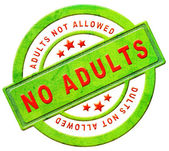 No adults allowed — Stock Photo