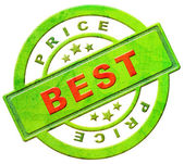 Best price label or stamp — Stock Photo
