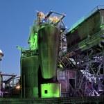 Steel industry blast furnace — Stock Photo