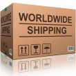 Stock fotografie: Worldwide shipping