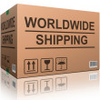 Worldwide shipping — Stockfoto