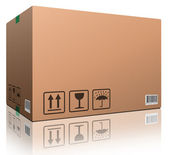 Cardboard box blank — Stock Photo