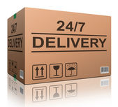 24/7 delivery — Stock Photo