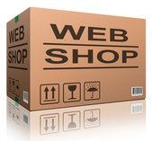 Web shop cardboard box — Stock Photo