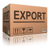 Export cardboard box — Stock Photo