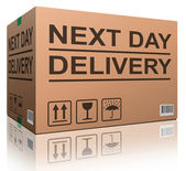 Next day delivery — Stock Photo