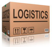 Logistics carboard box — Stock Photo