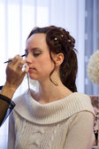Mulheres e maquiagem. — Foto Stock