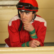 Thoroughbred Jockey Joseph Talamo — Stock Photo