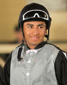 Thoroughbred Jockey Rafael Bejarano — Stock Photo
