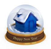 Christmas snow globe — Stock Photo