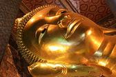 The Big golden Reclining Buddha — Stock Photo