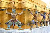 Los elementos del gran palacio de bangkok tailandia — Foto de Stock