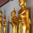 Foto de Stock  : Golden Buddhin Wat Pho temple in Bangkok