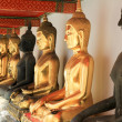 Stock Photo: Golden Buddhin Wat Pho temple in Bangkok