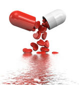 Heart Shape In Pills — Stock Photo