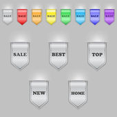 Bookmark ribbons — Vector de stock