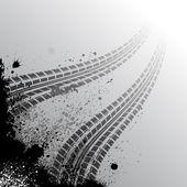 背景与轮胎的轨道 — 图库矢量图片