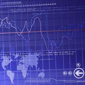 Didital Financiën achtergrond — Stockvector