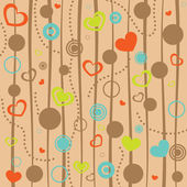 Abstract hearts background — Stock Vector
