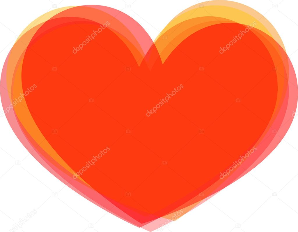Big red heart on white background — Stock Vector #9564593