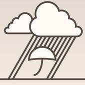Rain background — Stock Vector