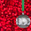 Grey christmas bauble — Stock fotografie