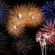 Firework display — Stockfoto