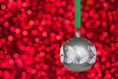 Grey christmas bauble — Stock Photo