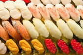 A variety of sushi food — Stock Photo