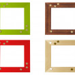 Set of picture frames, isolated, with clipping path — Stock Photo