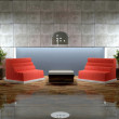 Design scene of modern lounge room. — Stock Photo #9225213