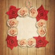 Vintage frame with roses. — Stock Photo