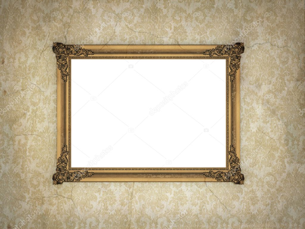 Cadre dor sur fond d 39 cran vintage photo 9383656 for Cadre photo fond ecran