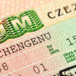Czech visa — Stock Photo